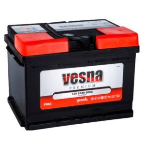 Аккумулятор VESNA Premium 62 Ач оп низкий