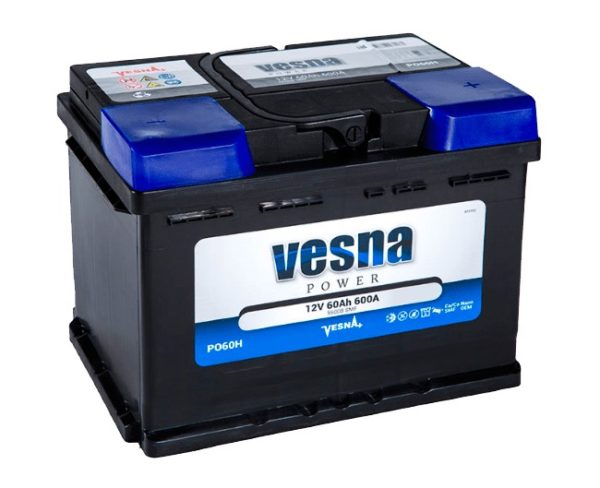 Аккумулятор VESNA Power 60 Ач ПП (низкий)