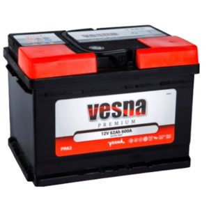 Аккумулятор VESNA Premium 62 Ач ОП (низкий)