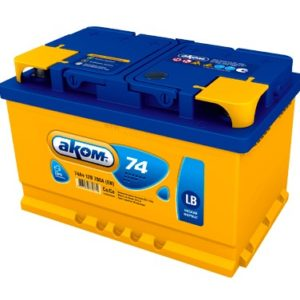 Аккумулятор АКОМ LB 74 АЧ ОП (низкий)