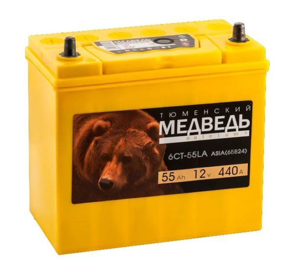 Аккумулятор Тюменский Медведь 65B24L 55 Ач ОП
