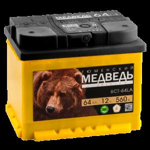 Аккумулятор Тюменский Медведь 64 АЧ ПП